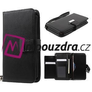 Luxusní univerzální pouzdro pro telefony do 140 x 70 x 12 mm - černé - 1