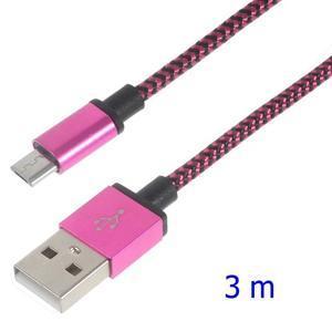 DataS Micro USB kabel nabíjecí/propojovací - rose - 1