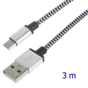 DataS Micro USB kabel nabíjecí/propojovací - stříbrný - 1