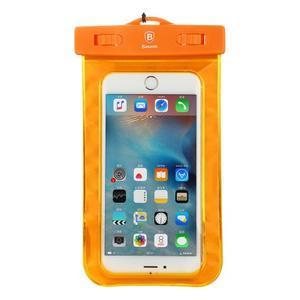 Base IPX8 vodotěsný obal na mobil do 158 x 78 mm - oranžový - 1