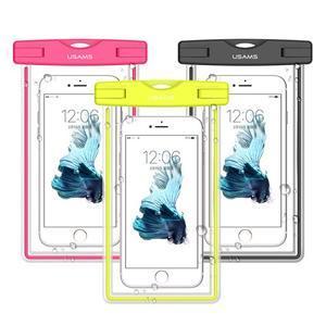 Fluorescent IPX8 vodotěsný obal na mobil do 158 x 78 mm - černý - 1