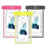 Fluorescent IPX8 vodotěsný obal na mobil do 158 x 78 mm - černý - 1/4