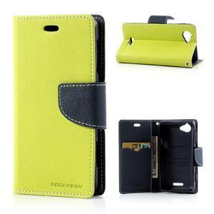 Mr. Fancy peněženkové pouzdro pro Sony Xperia L - zelené - 1