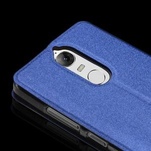 Klopové pouzdro s kovovou výstuhou na Lenovo K5 Note - modré - 2
