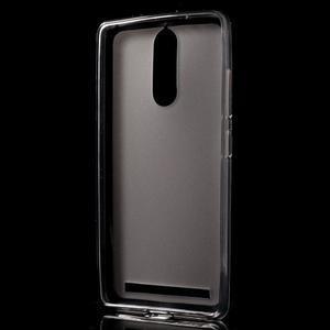 Matný gelový obal na mobil Lenovo K5 Note - šedý - 2