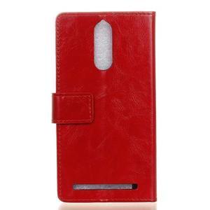 Horse PU kožené pouzdro na mobil Lenovo K5 Note - červené - 2
