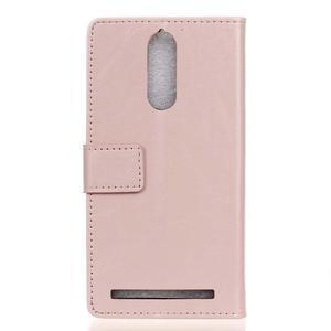 Horse PU kožené pouzdro na mobil Lenovo K5 Note - růžové - 2