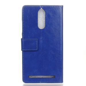 Horse PU kožené pouzdro na mobil Lenovo K5 Note - modré - 2