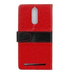 Colory knížkové pouzdro na Lenovo K5 Note - červené - 2