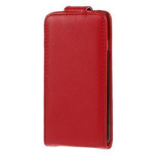 PU kožené flipové pouzdro na iPhone 6, 4.7 - červené - 2