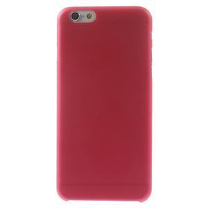 Ultra slim 0.3 mm plastové pouzdro na iPhone 6, 4.7  - červené - 2