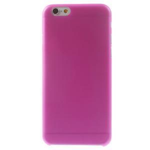 Ultra slim 0.3 mm plastové pouzdro na iPhone 6, 4.7  - růžové - 2