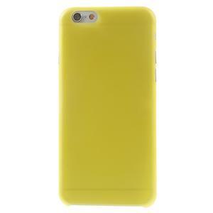 Ultra slim 0.3 mm plastové pouzdro na iPhone 6, 4.7  - žluté - 2