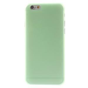 Ultra slim 0.3 mm plastové pouzdro na iPhone 6, 4.7  - zelené - 2