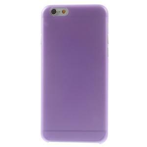 Ultra slim 0.3 mm plastové pouzdro na iPhone 6, 4.7  - fialové - 2