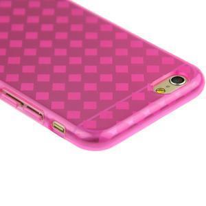 Gelové kostkované pouzdro na iPhone 6, 4.7 - růžové - 2
