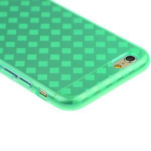 Gelové kostkované pouzdro na iPhone 6, 4.7 - zelené - 2