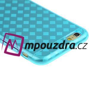 Gelové kostkované pouzdro na iPhone 6, 4.7 - modré - 2