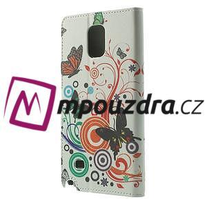 Peněženkové pouzdro na Samsung Galaxy Note 4- barevní motýlci - 2