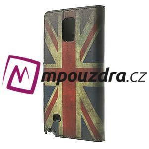 Peněženkové pouzdro na Samsung Galaxy Note 4- UK vlajka - 2