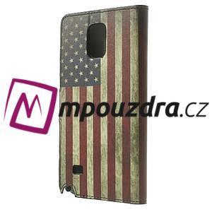 Peněženkové pouzdro na Samsung Galaxy Note 4- USA vlajka - 2