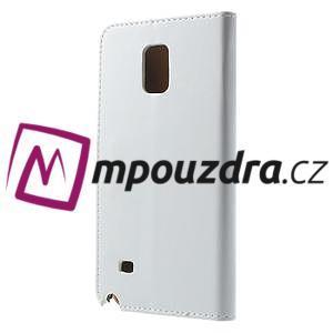 Peněženkové PU kožené pouzdro na Samsung Galaxy Note 4- bílé - 2