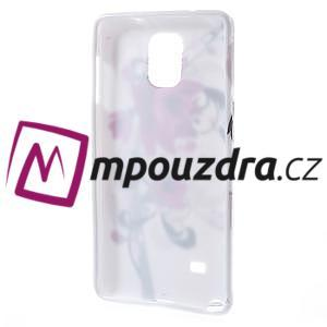 Gelové pouzdro na Samsung Galaxy Note 4- fialový květ - 2