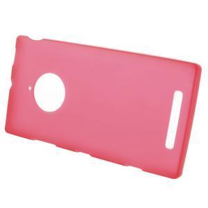 Gelové matné pouzdro na Nokia Lumia 830 - červené - 2