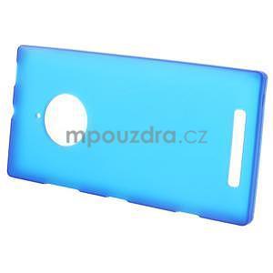 Gelové matné pouzdro na Nokia Lumia 830 - modré - 2