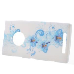 Gelové pouzdro na Nokia Lumia 830 - modrá lilie - 2