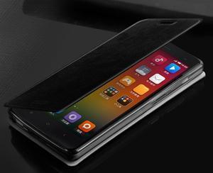 Flipové PU kožené pouzdro na Xiaomi Mi4- černé - 2