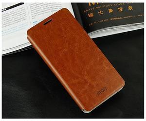 Flipové PU kožené pouzdro na Xiaomi Mi4- hnědé - 2