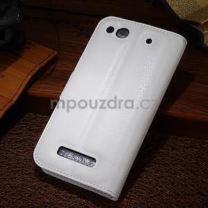 Peněženkové pouzdro na Alcatel One Touch Idol Alpha 6032 A - bílé - 2