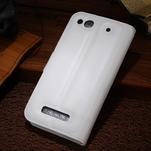 Peněženkové pouzdro na Alcatel One Touch Idol Alpha 6032 A - bílé - 2/2