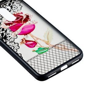 Lace gelový obal s plastovými zády pro Xiaomi Pocophone F1 - růže - 2