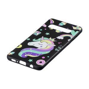 Printy gelový obal na mobil Samsung Galaxy S10 - jednorožec a sladkosti - 2