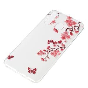 Pattern gelový obal na Samsung Galaxy A50/A30/A20 - motýl a květiny - 2