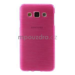 Broušené pouzdro na Samsung Galaxy A3 - rose - 2