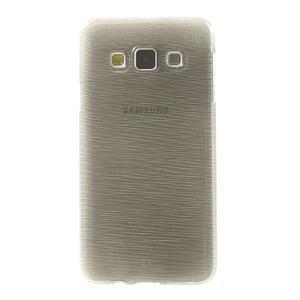 Broušené pouzdro na Samsung Galaxy A3 - šedá - 2
