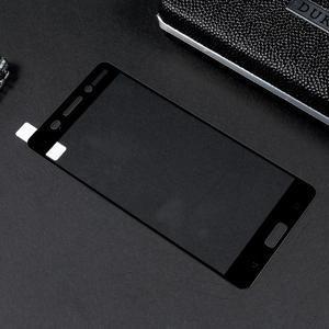 Celoplošné fixační tvrzené sklo na Nokia 6 - černý lem - 2