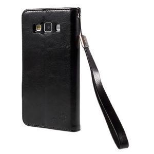 Kočička Domi PU kožené pouzdro na Samsung Galaxy A5 - černé - 2