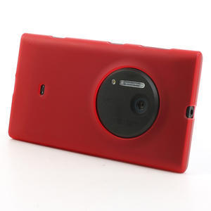 Gelové matné pouzdro pro Nokia Lumia 1020- červené - 2