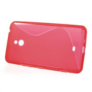 Gelové S-line pouzdro pro Nokia Lumia 1320- červené - 2