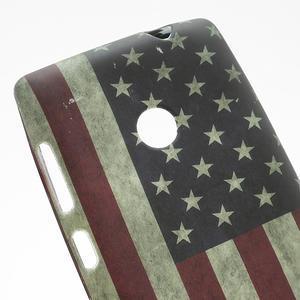 Gelové pouzdro na Nokia Lumia 520- USA vlajka - 2