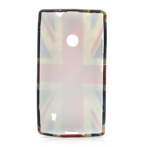 Gelové pouzdro na Nokia Lumia 520- vlajka - 2