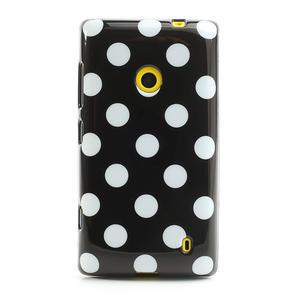 Gelové PUNTÍK pouzdro na Nokia Lumia 520- černé - 2