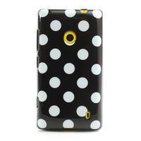 Gelové PUNTÍK pouzdro na Nokia Lumia 520- černé - 2/4