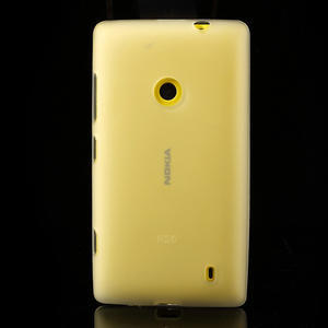 Gelové matné pouzdro na Nokia Lumia 520 - bílé - 2
