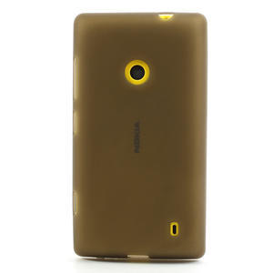 Gelové matné pouzdro na Nokia Lumia 520 - šedé - 2