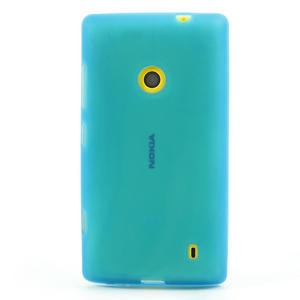 Gelové matné pouzdro na Nokia Lumia 520 - světlemodré - 2